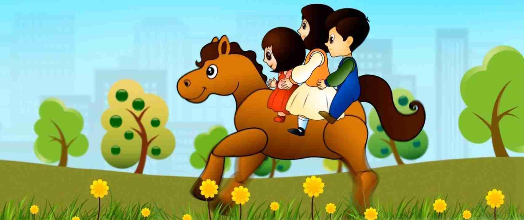 लकड़ी की काठी, काठी पे घोड़ा