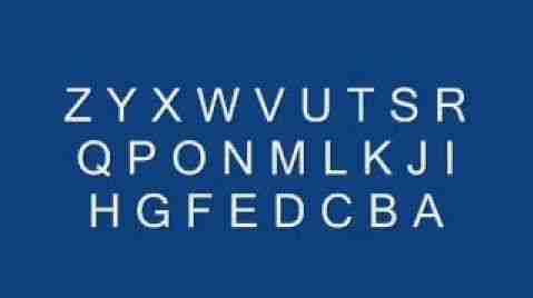 Backward alphabets