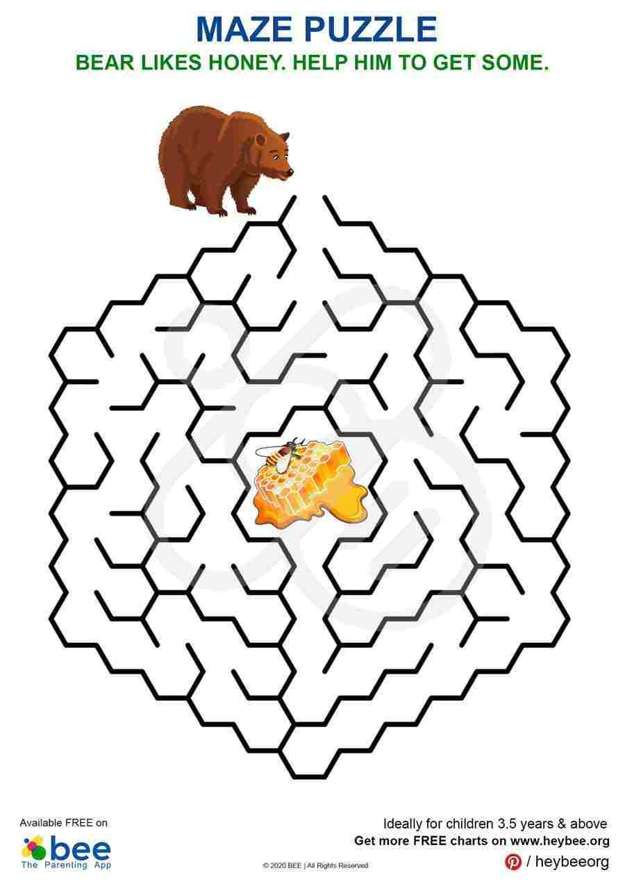 Bear - Honey Maze Puzzle