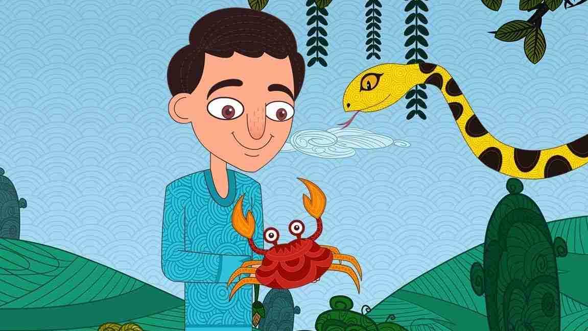Brahmadatta, crab and the snake