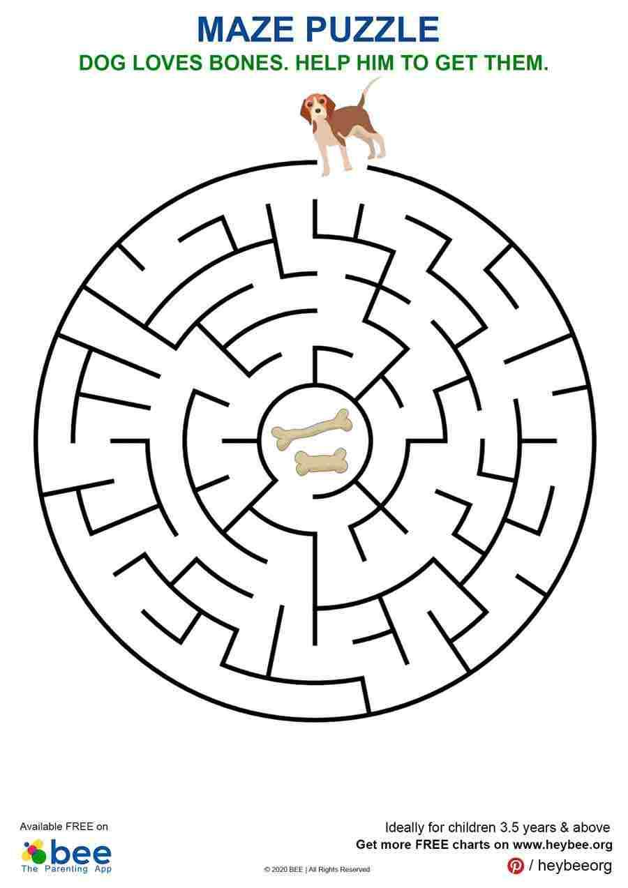 Dog Maze Puzzle