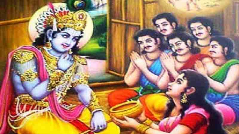 Durvasa Muni and cooking pot of Draupadi