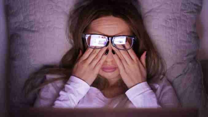 Eyestrain and eye care after a prolonged screen time