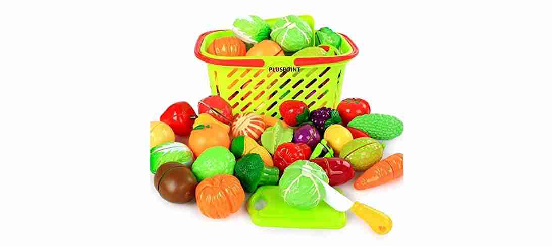 Fruits and Vegetables with Basket