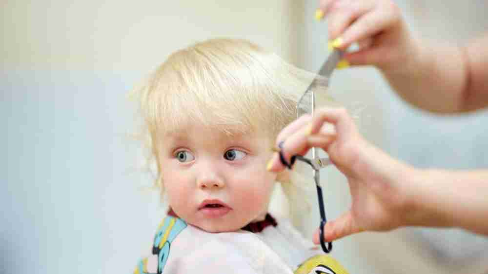 Going for the first hair cut of your baby