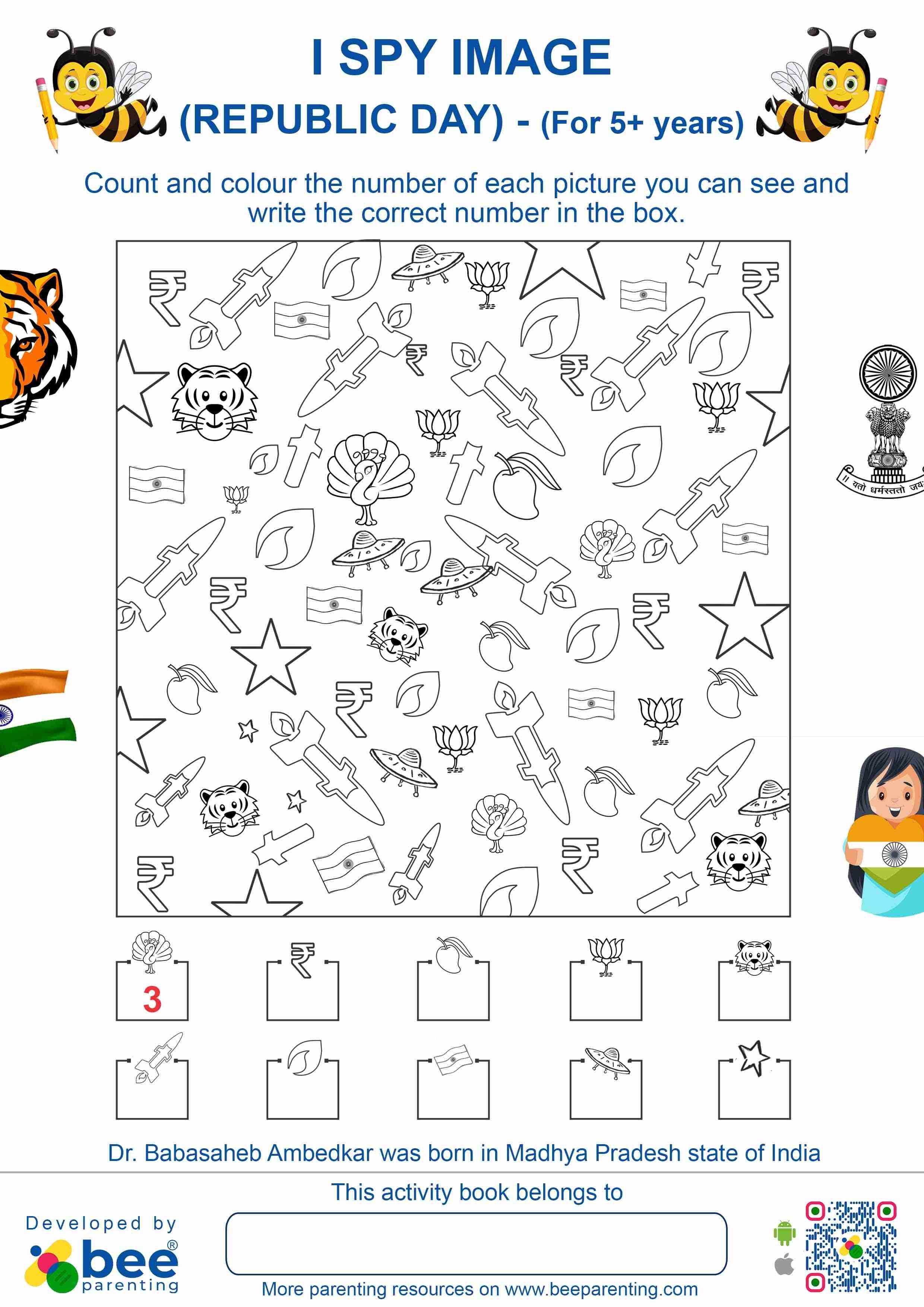 Indian Republic Day I Spy Puzzle