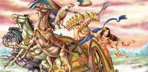 Jatayu's sacrifice in fight with Ravana
