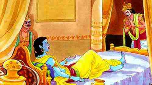 Krishna's visit to Dhuryodana's palace