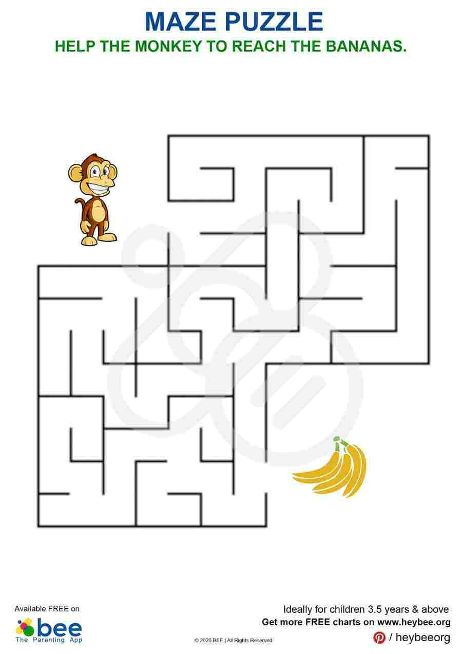 Monkey Banana Maze Puzzle