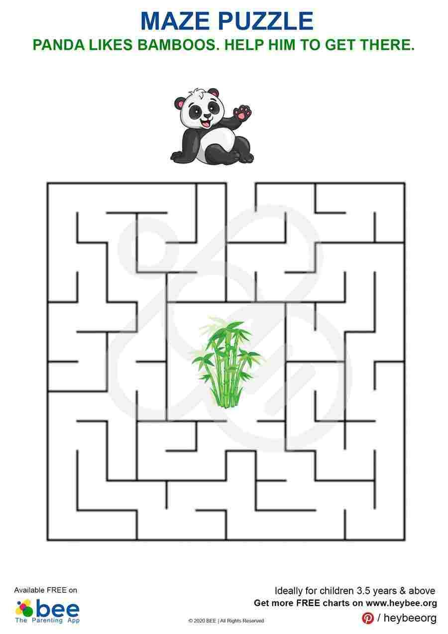 Panda Maze Puzzle
