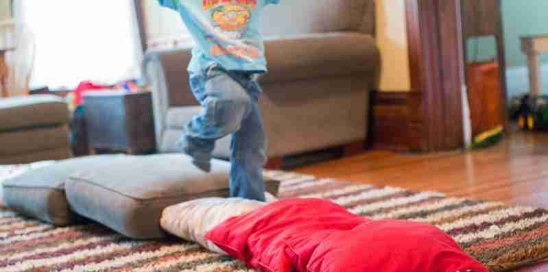 Pillow obstacle course