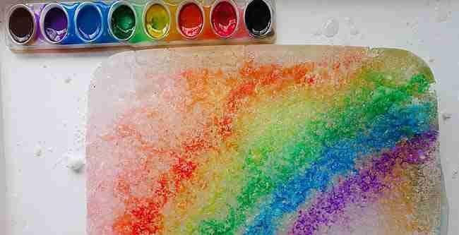 Rainbow Ice Melting