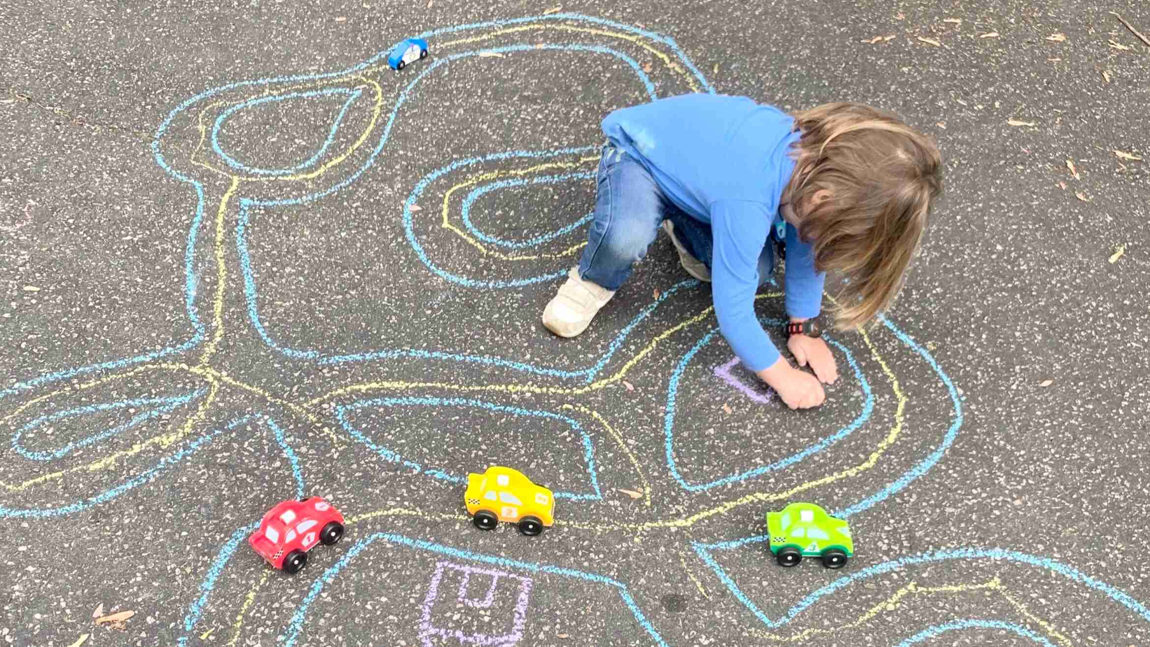 Sidewalk Chalk Roads