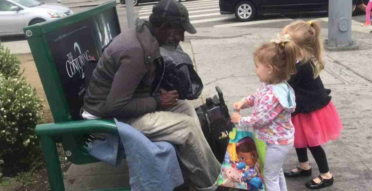 Talking about homeless people with your child