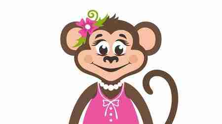 The girl monkey and the spring of pearls