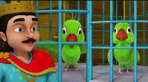 The king and the parrots