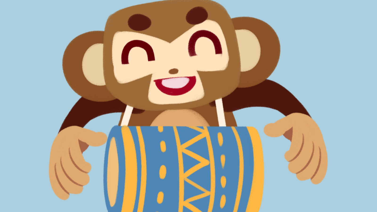 The monkey and the drum
