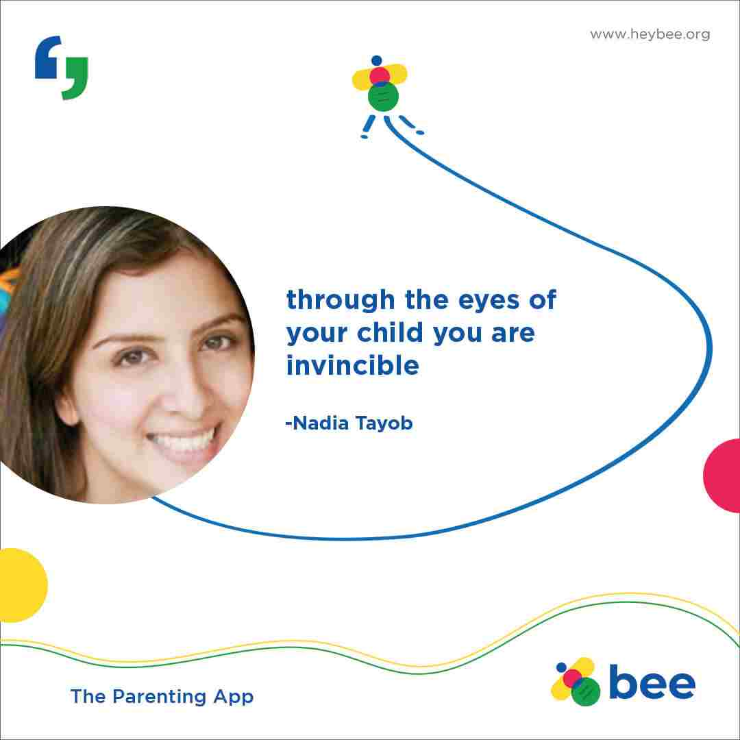 Through the eyes of your child you are invincible