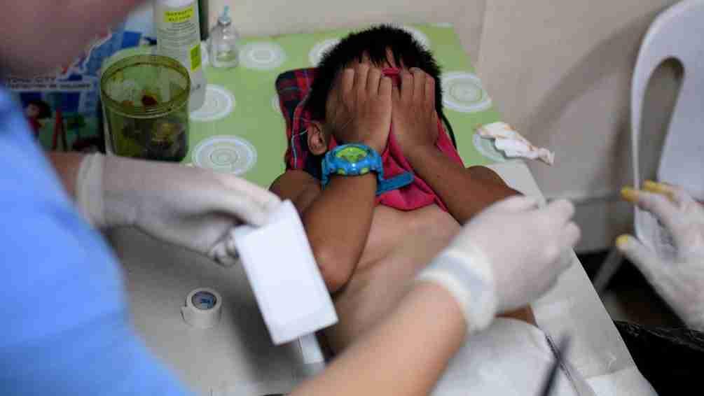 Undergoing circumcision in boys