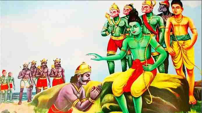 Vibhishana's devotion