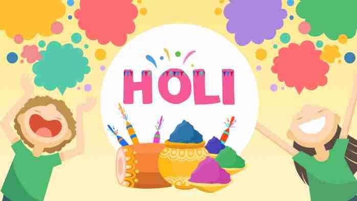Holi Festival Worksheets For Kids