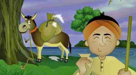 The wise merchant and the cheating donkey