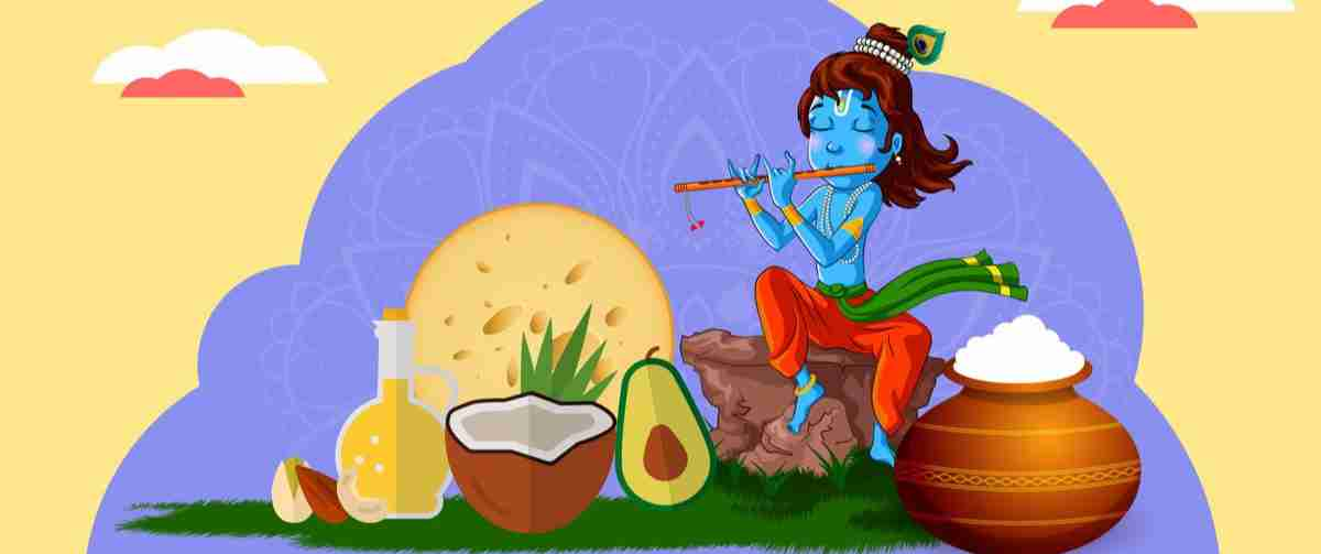 Pudding and peanuts for Krishna