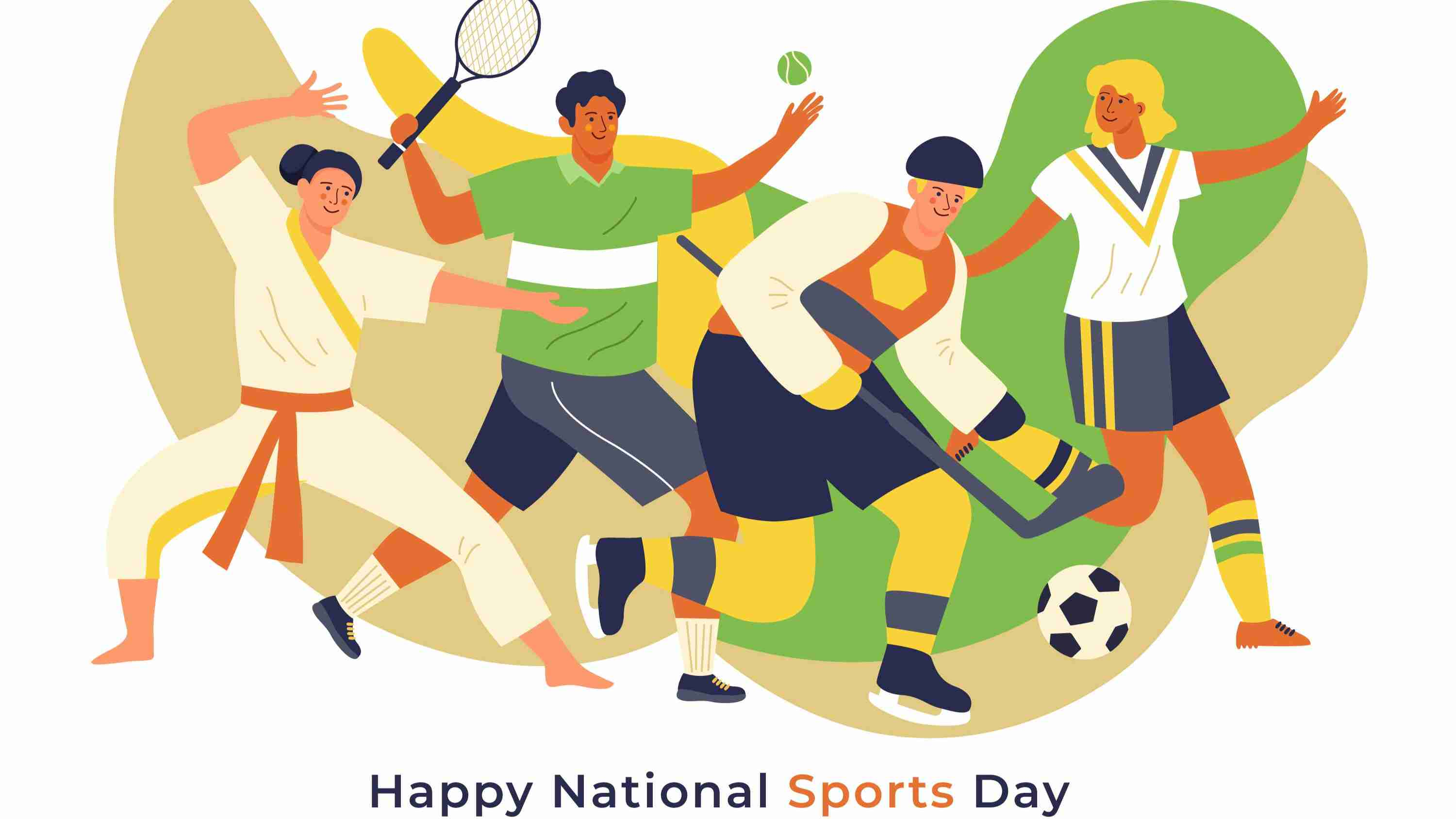 Indian National Sports Day Theme Worksheet For Kids