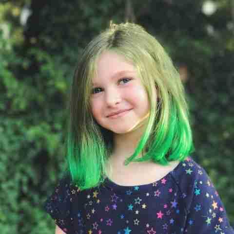 Hair color on my child hair