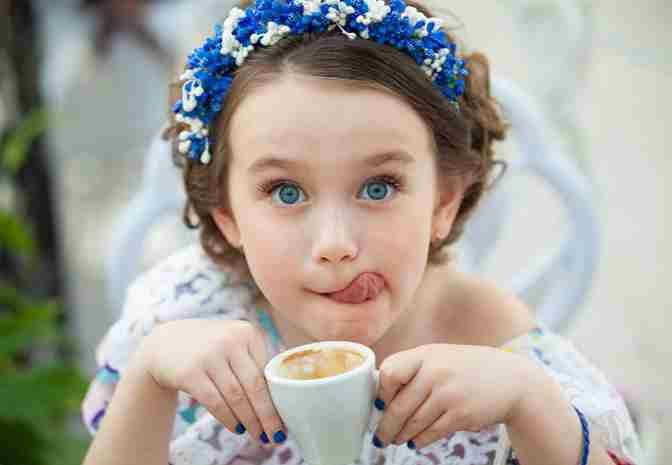 Introduce coffee or tea to child