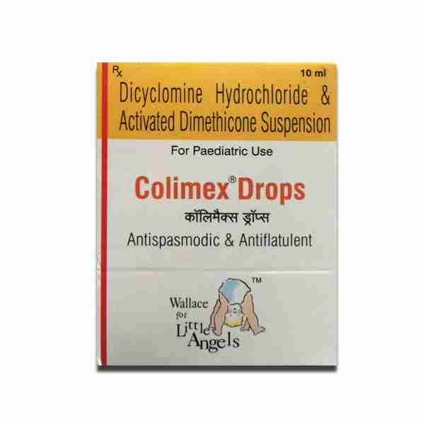 Colimex drops to treat colic in babies