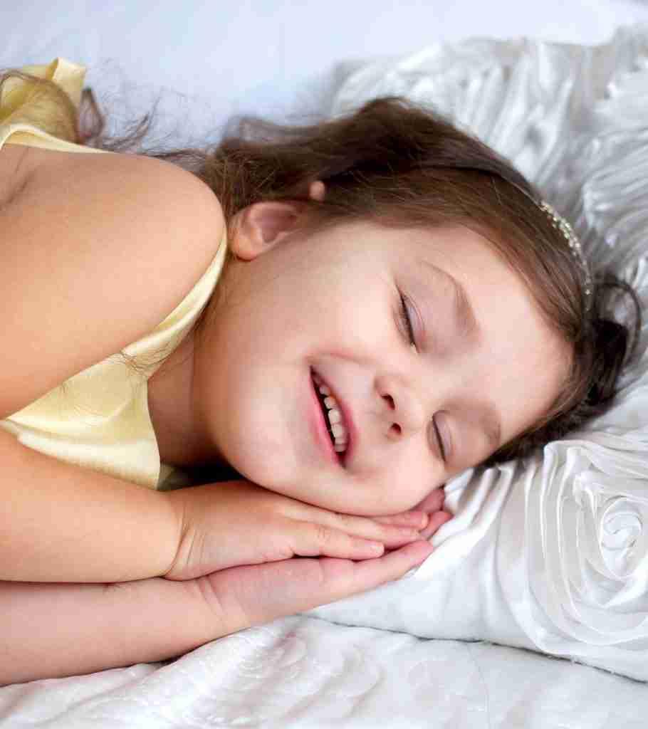 Child laughs walks and talks in sleep
