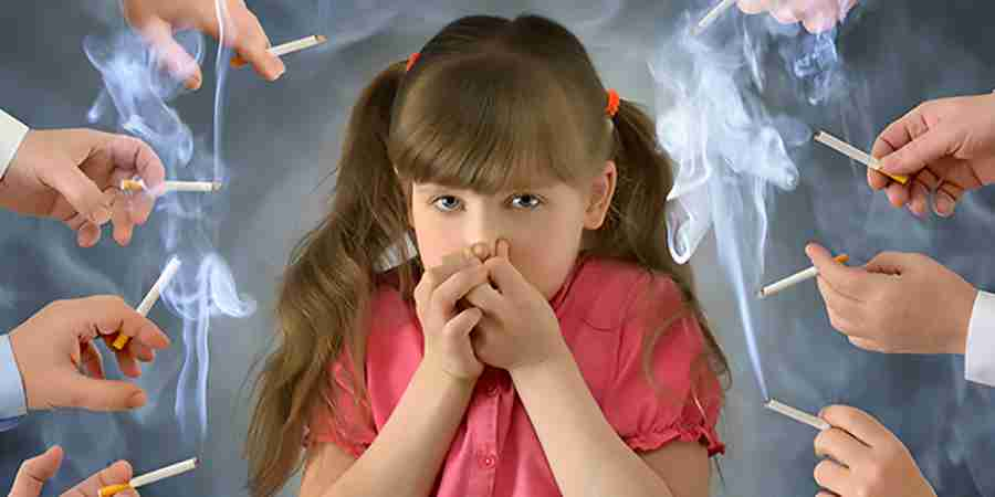 How can passive smoking affect a child?