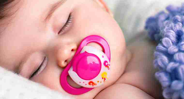 pacifier in mouth in sleep