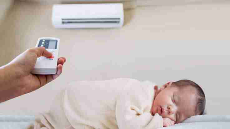 can my child sleep in heater