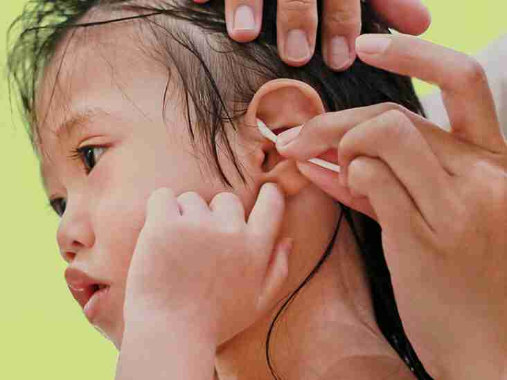cleaning earwax in children